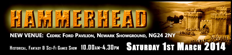 Hammerhead Show - New Venue Cedric Ford Pavilion, Newark Showground - 1st March 2014