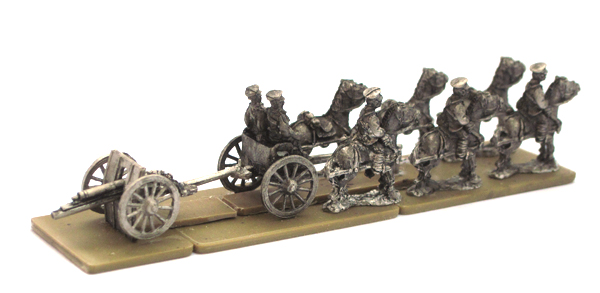WW1 BR11 British Early War Field Gun Teams and Limbers