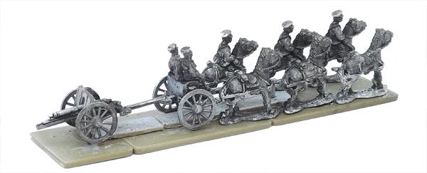 WW1 BR11 British Early War Field Gun Teams and Limbers