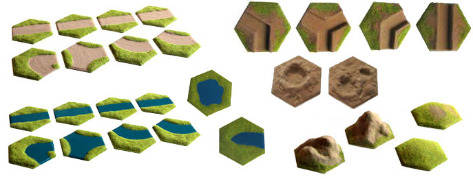 single hex features
