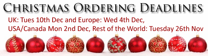 Christmas ordering deadlines, please get your orders to us as soon as possible.