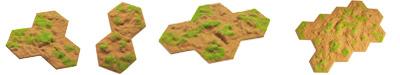 Flocked Desert Transition Craters, Pulverised Ground