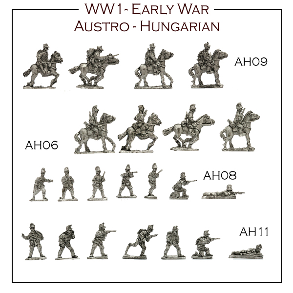 1st 8 packs of WW1 Austro-Hungarians now available