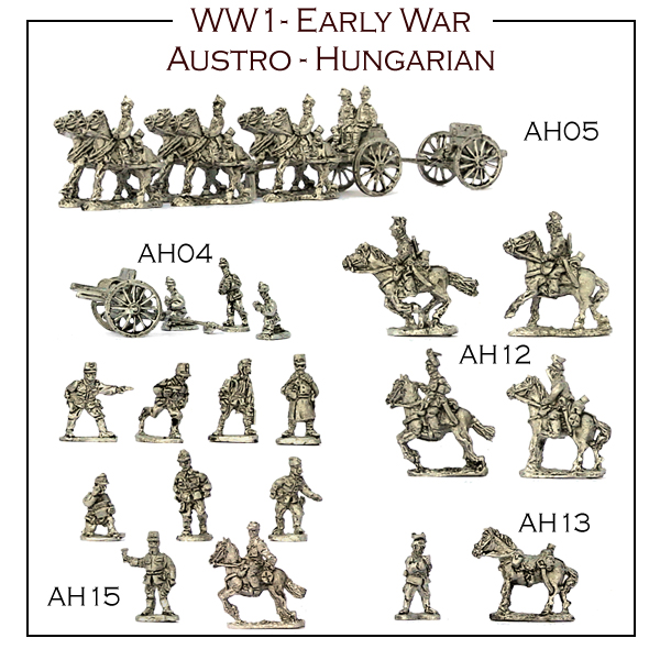 7 more packs of WW1 Austro-Hungarians now available