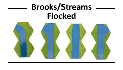 Hexon Brooks or Streams Flocked