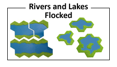 Flocked River and Lake Features