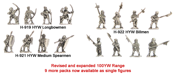 100 Years War - 9 New single figure packs added to the range
