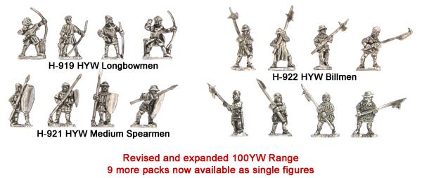 100 Years War - 9 New single figure packs added to the range