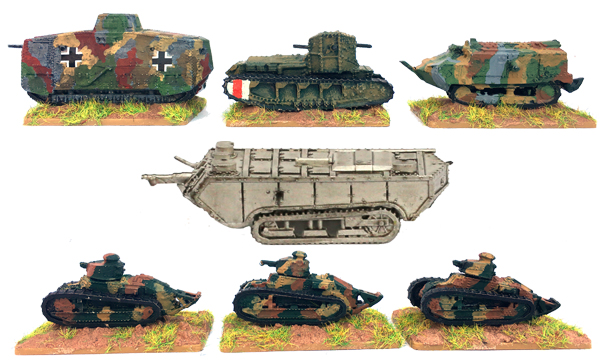 New WW1 Tanks - cast in lead free pewter