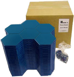 Blue Hexon Box Set - 21 boards and clips included
