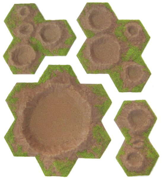New Hex Crater sets now available