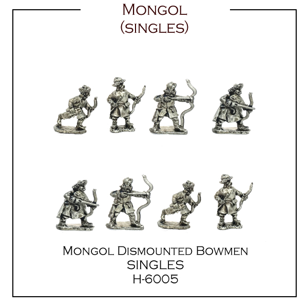 H-6005 Singles - Dismounted Mongol Bowmen