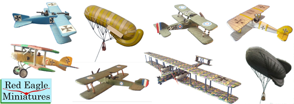 WW1 Aircraft from Red Eagle Miniatures