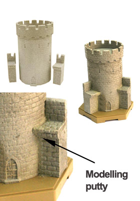 Resin tower and modelling putty