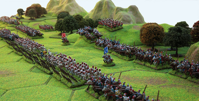 Ottoman Army ready for battle Terrain, Hexon and hex features