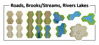 Roads, Brooks, Lakes and Rivers
