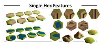 Single hex terrain features
