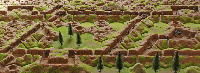 scarab miniatures in the 28mm trenches of Kallistra