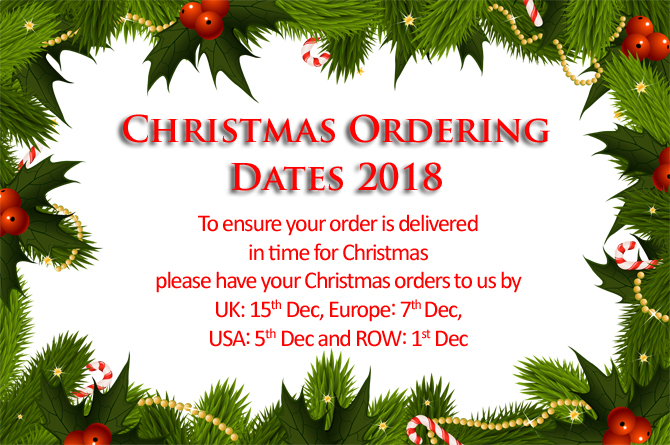 Christmas Ordering dates 2018